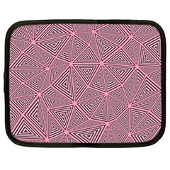 Chaos Of Triangles In Pink Netbook Case (xl) by FEMCreations