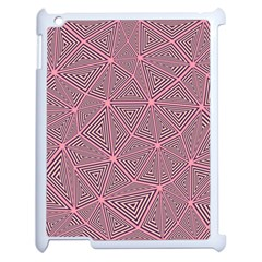 Chaos Of Triangles In Pink Apple Ipad 2 Case (white)