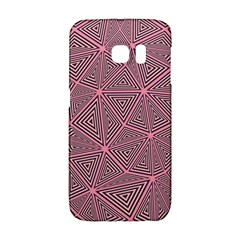 Chaos Of Triangles In Pink Samsung Galaxy S6 Edge Hardshell Case by FEMCreations