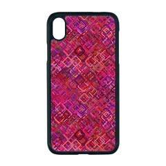 Cherry Squares Apple Iphone Xr Seamless Case (black)
