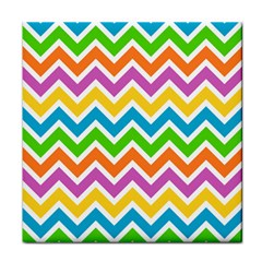 Chevron Of The Rainbow Tile Coasters