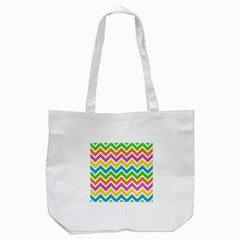 Chevron Of The Rainbow Tote Bag (white) by FEMCreations