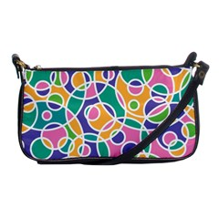 Circling Time 3 Shoulder Clutch Bag by FEMCreations