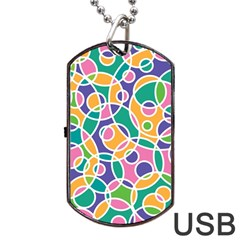 Circling Time 3 Dog Tag Usb Flash (one Side) by TimelessFashion