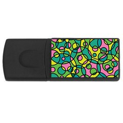 Circling Time 2 Rectangular Usb Flash Drive