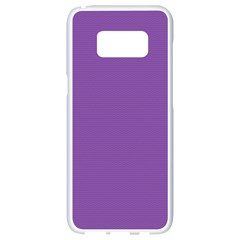 All Purple Samsung Galaxy S8 White Seamless Case by FEMCreations