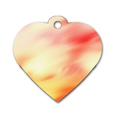 Bright Fading Dog Tag Heart (one Side)