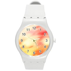 Bright Fading Round Plastic Sport Watch (m)
