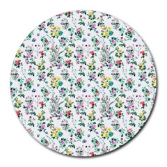 Classic Flowers Round Mousepads by FEMCreations