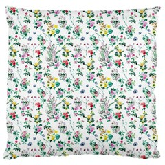 Classic Flowers Large Flano Cushion Case (two Sides)