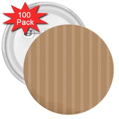 Classy Stripe 3  Buttons (100 Pack)