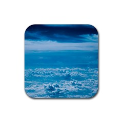 Cloudy Sky Rubber Square Coaster (4 Pack)  by TimelessDesigns