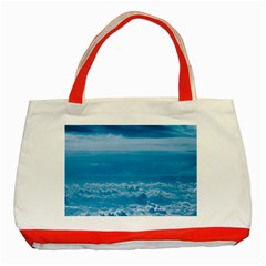 Cloudy Sky Classic Tote Bag (red)