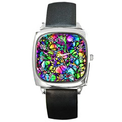 Color Network Square Metal Watch by TimelessFashion