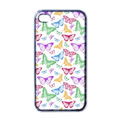 Colorfull Butterflies Apple Iphone 4 Case (black)