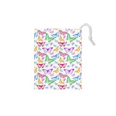 Colorfull Butterflies Drawstring Pouch (xs)