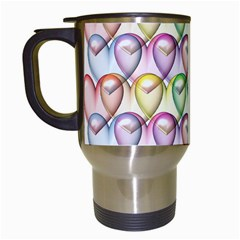 Colorfull Hearts Travel Mugs (white) by TimelessDesigns