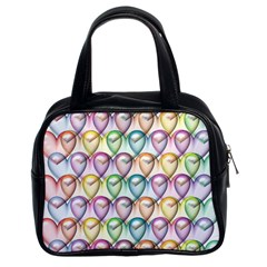 Colorfull Hearts Classic Handbag (two Sides)