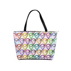 Colorfull Hearts Classic Shoulder Handbag by TimelessFashion