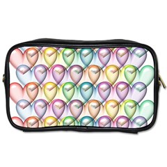 Colorfull Hearts Toiletries Bag (two Sides)