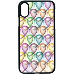 Colorfull Hearts Apple Iphone Xs Seamless Case (black) by TimelessDesigns
