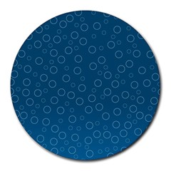 Cool Bubbles Round Mousepads by FEMCreations