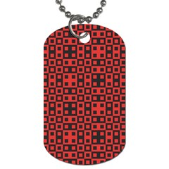 Crazy Blocks Dog Tag (one Side)
