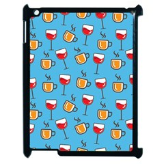 Cups And Glasses Blue Apple Ipad 2 Case (black)