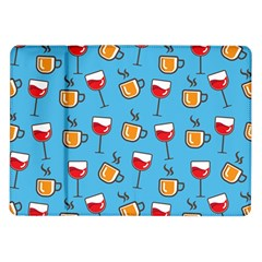 Cups And Glasses Blue Samsung Galaxy Tab 10 1  P7500 Flip Case