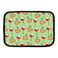 Cups And Glasses Netbook Case (medium)