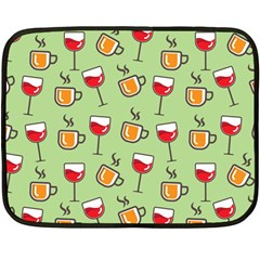 Cups And Glasses Double Sided Fleece Blanket (mini)