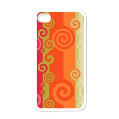 Curly Stripes Apple Iphone 4 Case (white)