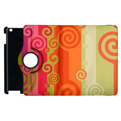 Curly Stripes Apple Ipad 3/4 Flip 360 Case
