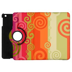 Curly Stripes Apple Ipad Mini Flip 360 Case
