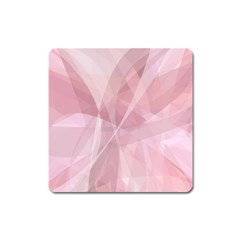 Curves In Pink Square Magnet by TimelessDesigns