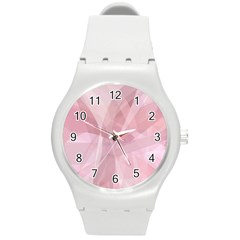 Curves In Pink Round Plastic Sport Watch (m) by FEMCreations