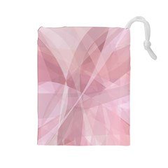Curves In Pink Drawstring Pouch (large) by FEMCreations