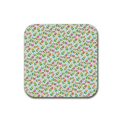 Cute Flowers Rubber Coaster (square)