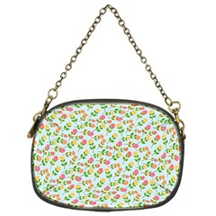 Cute Flowers Chain Purse (one Side)