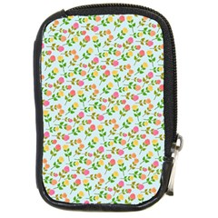 Cute Flowers Compact Camera Leather Case
