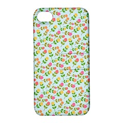 Cute Flowers Apple Iphone 4/4s Hardshell Case With Stand