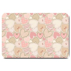 Cute Hearts Large Doormat