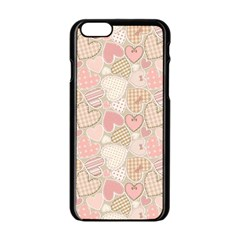 Cute Hearts Apple Iphone 6/6s Black Enamel Case