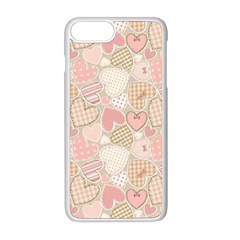 Cute Hearts Apple Iphone 8 Plus Seamless Case (white)