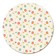 Cute Little Flowers Magnet 5  (round)
