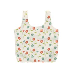 Cute Little Flowers Full Print Recycle Bag (s) by FEMCreations