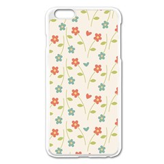 Cute Little Flowers Apple Iphone 6 Plus/6s Plus Enamel White Case
