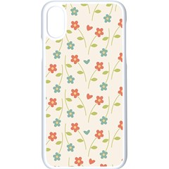 Cute Little Flowers Apple Iphone X Seamless Case (white)