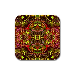 Abstract #8   I   Autumn 6000 Rubber Coaster (square)  by KesaliSkyeArt