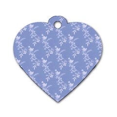Cute Roses  Dog Tag Heart (one Side)